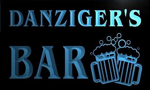 w024897-b DANZIGER'S Nom Accueil Bar Pub Beer Mugs Cheers Neon Sign Biere Enseigne Lumineuse