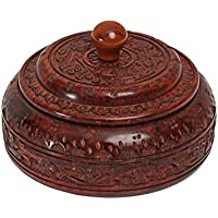 Store Indya, Authentic Indian Spice Box indiano Masala Dabba Scolpito
