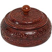 Store Indya, Authentic Indian Spice Box indiano Masala Dabba Scolpito a mano in palissandro Storage Cucina & Organizzazione