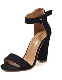 64d3d58d800d Scarpe Donna Tacco Plateau,Kword Sandali con Cinturino alla Caviglia Donna  Scarpe Sandalo Donna Raso