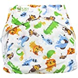 VBaby Giraffe Printed Cloth Diaper Reusable Nappy Organic Fabric Anti Bacterial Washable,Waterproof Premium Adjustable Small/Medium/Large Reusable Cloth Diaper With 1 Cotton Insert Lining 0-2 Years