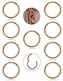 Adramata 9 Pcs 16G Boucle D'oreille Cartilage Boucle D'oreille Petite Anneau Pour...