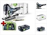 Jetzt mit GRATIS AKKU: Festool PSC 420 EB Li-Basic Akku Pendelstichsäge CARVEX im Systainer (574713) + 1 x BP 18 Li 3,1 Ah Akkupack