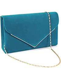 Anladia sac a main besace chaine Metal decor Faux suede Sacoche Pochette sac soiree mariage