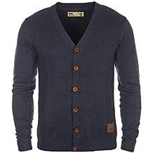 SOLID Tyrell Herren Strickjacke Cardigan mit V-Ausschnitt aus hochwertiger Baumwoll-Mischung
