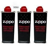 Essence pour briquet zippo 3 recharges d'essence 125 ml chacune