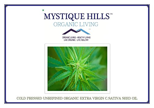 Mystique Hills Cold Pressed Unrefined Organic Extra Virgin C.Sativa Seed Oil for Young Youthful Glowing Skin (Premium Quality) 200 ml