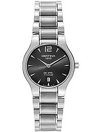 Certina Damen-Armbanduhr XS Analog Quarz Edelstahl C012.209.44.087.00