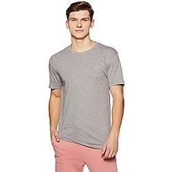 Jockey Men's Cotton Inner T-Shirt (8901326135952_US34_Medium_Grey Melange)