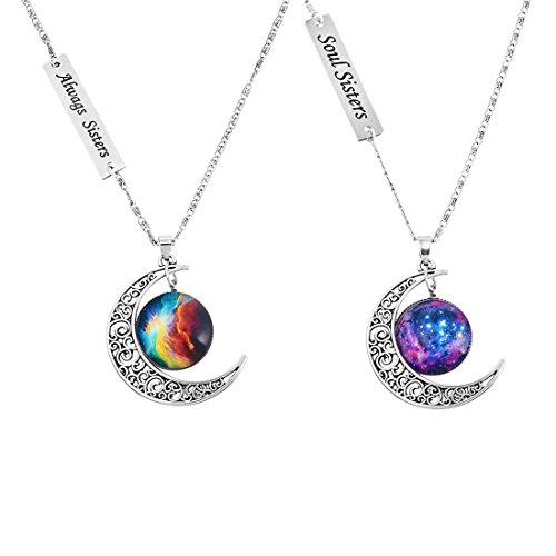 mjartoria-collana-dellamicizia-love-lightened-planet-con-incisione-always-sister-e-ciondolo-con-luna
