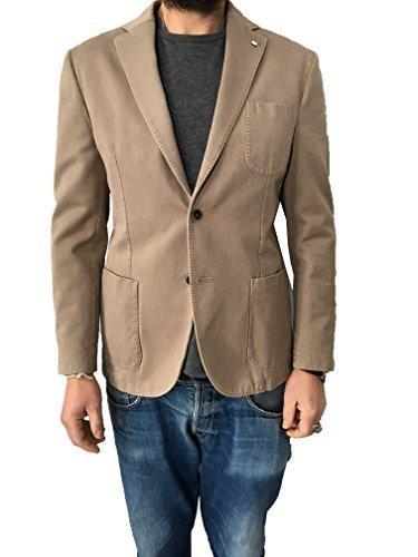L.B.M 1911 giacca uomo beige 100% cotone vestibilità slim