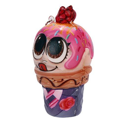 CHshe®--Squishy Spielzeug, Puppe Anhänger Eis Squishies Packung Anti-Druck-Helfer-Pressung-Spielzeug Kawaii Anti-Stress-Weiche Langsam Rising Duft Spielzeug-Geschenk für Kinder, Erwachsene (Lot Disney-charme)