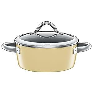 silit vitaliano casserole avec couvercle en verre 16 cm vanille 22 cm vanille. Black Bedroom Furniture Sets. Home Design Ideas