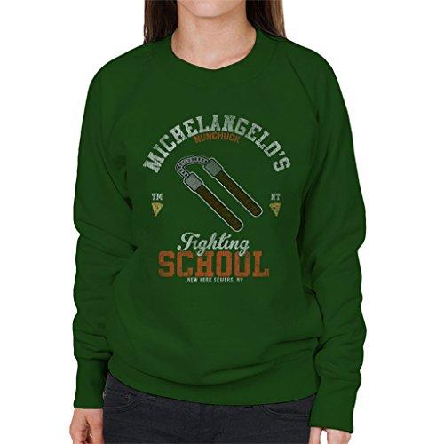 Michelangelo Nunchuck School Teenage Mutant Ninja Turtles Women's Sweatshirt