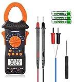 Digitales Zangenmessgerät Multimeter, Holdpeak HP-6205 Automatische Bereichswahl 6000 Zählungen TRMS-Zangenmessgerät für AC- und DC-Stromstärke Spannungswiderstand Kapazitätstemperatur (Doppelbacke)