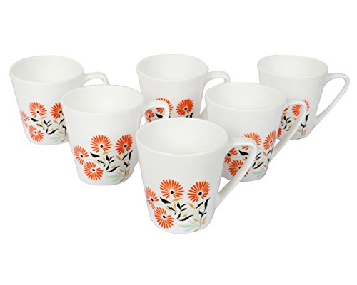 Bharat Microwave Capital 6pc Coffee Mug Set - Material: Bone China - 180 ml - Multi Colour  available at amazon for Rs.299