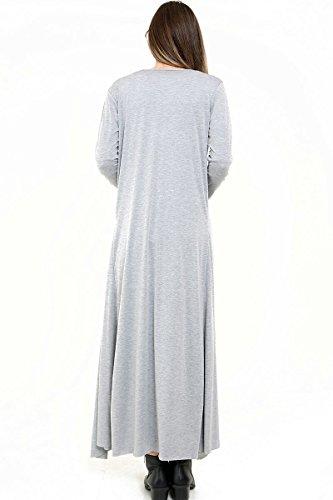 Maillot manches longues à manches longues Maxi Longline Cardigan EUR Taille 36-46 Gris