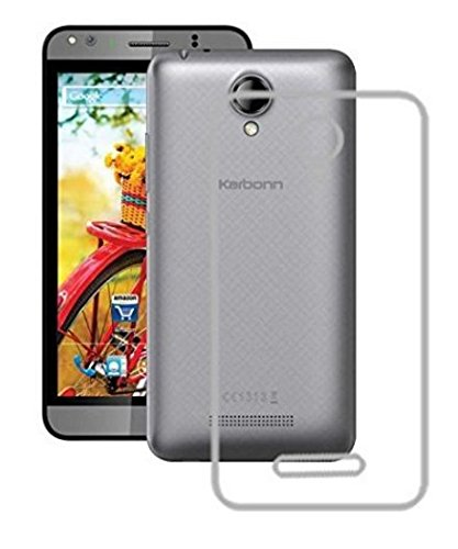 Tidel Premium Transparent clear white Silicon Flexible Soft TPU Slim Back Case Cover For Karbonn Titanium Machfive Mach Five 5  available at amazon for Rs.99