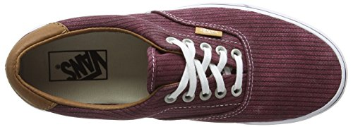 Vans Authentic, Sneakers Basses Mixte Adulte Rouge (Washed Herringbone/Rhubarb)