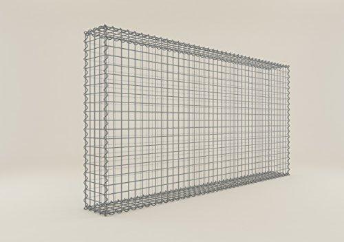 GABIONA | eckige Gabionenkörbe | befüllbare Steinkörbe | witterungsbeständiger Gitterkorb | ausgefallener Drahtkorb | Made in Germany | 200 x 100 x 20 cm