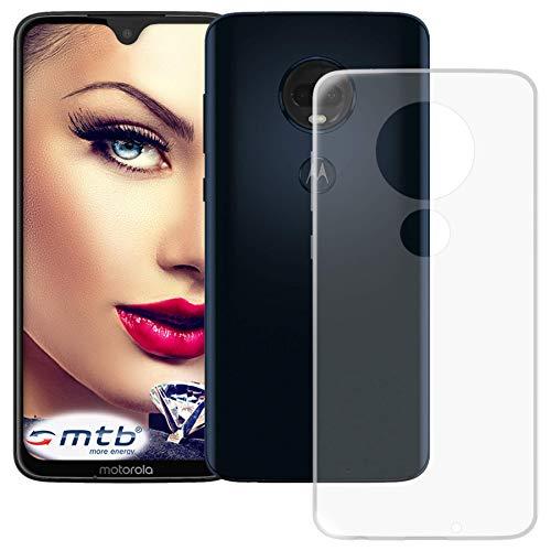 mtb more energy® Hülle Clear & Slim für Motorola Moto G7 | Moto G7 Plus (6.2'') | transparent | flexibel | TPU Silikon Schutzhülle Case Cover Tasche