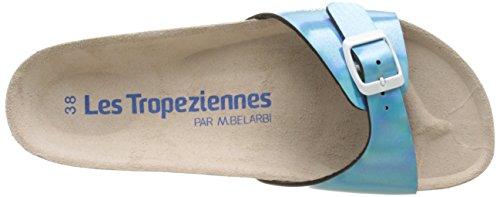 Les Tropéziennes par M. Belarbi Pornic, Damen Pantoletten Blau (Bleu Metallic)