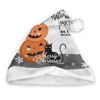 cleae Christmas Hat Halloween Party Invitation Card For Holidays Santa Cap Xmas Party Headwear Christmas Santa Claus Cap Xmas Hat