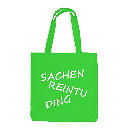 Jutebeutel - Sachen ReinTu Ding - Funmotiv Hellgrün