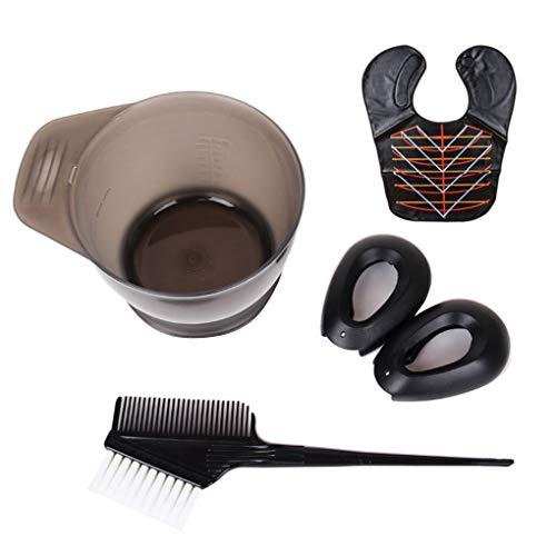Windy5 Frauen Männer Haarfärbung Tools Kit Haartönungs Rührschüssel Dye-Bürsten-Ohr-Schutzsatz Schönheitssalon Versorgungspaket 3