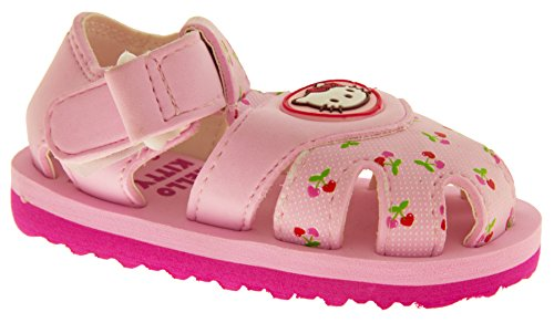 Hello Kitty Sangatta Sangle Velcro Orteil Fermé Sandales Filles Sandales Roses