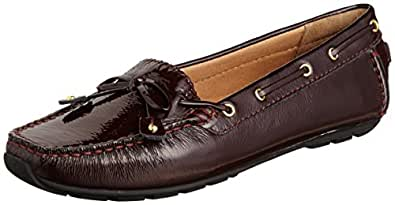 Clarks Women's Dunbar Cruiser Burgundy Loafers - 7 UK