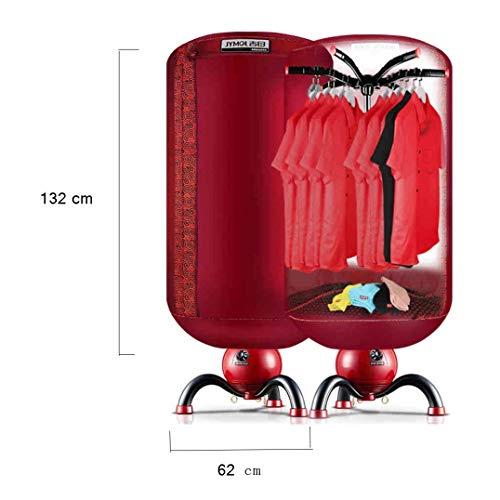JZX Europäischer nicht-poröser Wäschetrockner 900W Haushaltstrockner 33 Pfund Kapazität Faltbarer runder Desinfektionsschrank Schnelltrocknender Modus mit Timer,Europäischer Stil 05 (Europäische Waschmaschine, Trockner)
