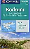 Borkum im Nationalpark Niedersächsisches Wattenmeer: 3in1 Wanderkarte 1:15000 mit Aktiv Guide inklusive Karte zur offline Verwendung in der ... Reiten. (KOMPASS-Wanderkarten, Band 727)