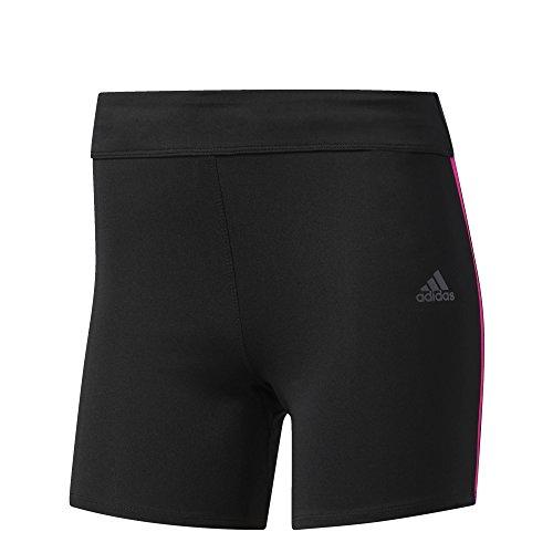 adidas Damen Response Shorts Tights, Black/Shock Pink, M