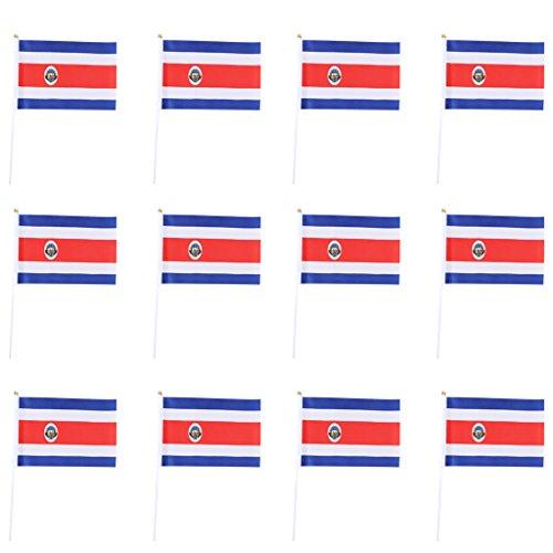 Sharplace 12er Deutschland-Fahne   WM 2018   Stockfahne   Kinder-Fahne BRD   Fähnchen   Deutschland-Flagge - Costa Rica