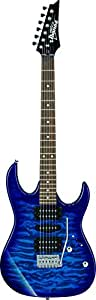 Ibanez GRX70QA-TBB Gio Electric Guitar, Transparent Blue Burst