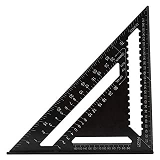 Wildlead Aluminum Ruler Carpenter Square 7 Inch Measuring Layout Tool for Teaching Daily