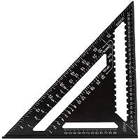 Alexsix Aluminio Triángulo Regla ángulo de ángulo Cuchillas Square Velocidad Carpentry Framing Herramienta de medición 7