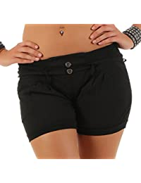 ba3c1aa1bf599a Malito Damen Shorts in Unifarben | lässige Kurze Hose | Bermuda für den  Strand | Pants