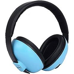 Casque Anti Bruit Bébé Oreille Défenseur Sécurité Protection Auditive Cache-Oreilles Réduction de Bruit pour Autisme Enfants Casque Antibruit pour Dormir Concerts D'avion D'artifice, Bleu