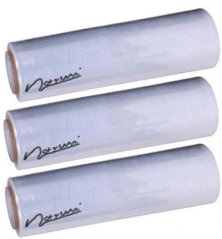 Preisvergleich Produktbild 3er Set STRETCHFOLIE VERPACKUNGSFOLIE PLASTIKFOLIE (Transparent, klein)