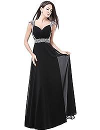reputable site 36ce9 fec6c Amazon.it: abito lungo nero - Stile impero / Vestiti / Donna ...