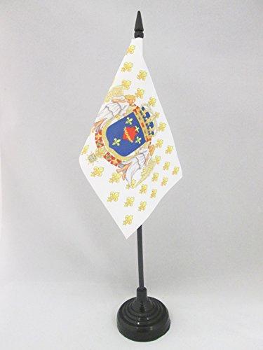 AZ FLAG TISCHFLAGGE KÖNIGREICH Frankreich Engel HEILIGSTES Herz JESU 15x10cm - KÖNIGREICH DER Franzosen TISCHFAHNE 10 x 15 cm - flaggen -