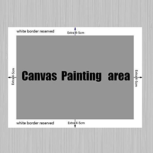SQSHBBC Graffiti sul Muro Quadri Astratti Quadri e Stampe su Tela Street Pop Art Immagine da Parete per Soggiorno Cuadros Decor 60X90CM Senza Co