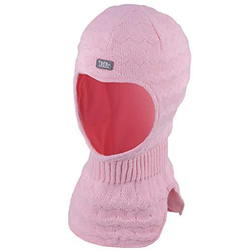 Galeja TuTu Mädchen Schlupfmütze Rosa 42-46 Kindermütze Winter Mütze Baumwollfutter mit Stirnschutz