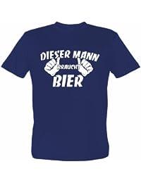 Fun T-Shirt mit lustigem Motiv DIESER MANN BRAUCHT BIER