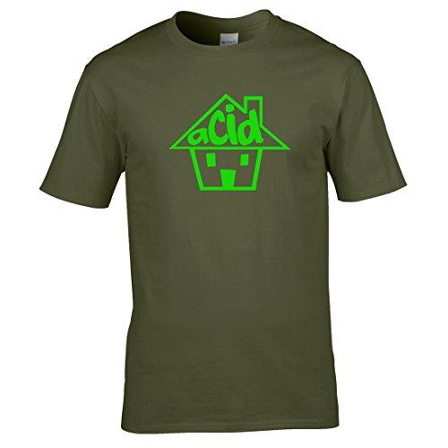 Naughtees clothing - Acid house T-shirt Für DJ's, feste, club oder audiheads