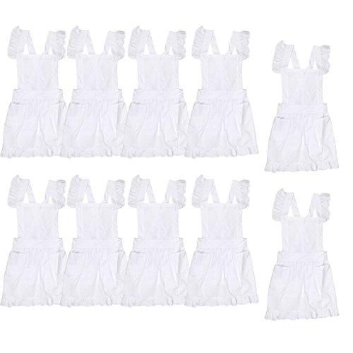 Gazechimp 10er-Set Spitze Küchenschürze Schürze Kostüm Pinafore Taschen, Viktorianischer (Viktorianische Verkauf Kostüme Zum)