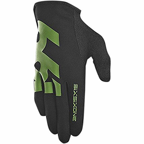 SixSixOne Men's Comp Full Finger Mountain Cycling Gloves - 6985 (Black/Green - XL (11)) by 661 Six Six One