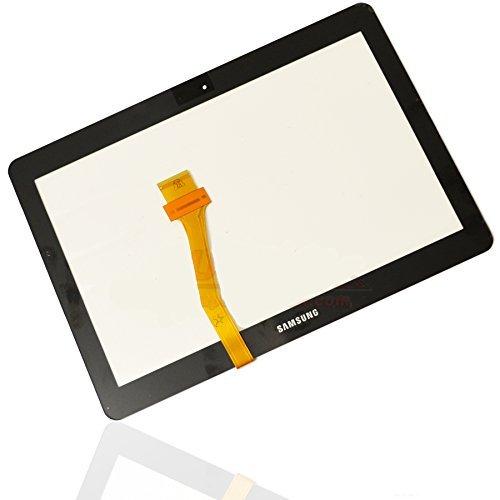 Display Glas für Samsung Galaxy Tab Tablet 2 P5100 P5110 Glass Touch Screen Front Scheibe GT-P5100 und GT-P5110 Schwarz + Kleber